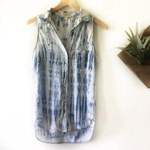 Cloth & Stone | Chambray Acid Wash Sleeveless Top